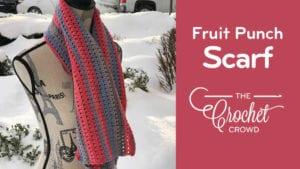 Crochet Fruit Punch Scarf
