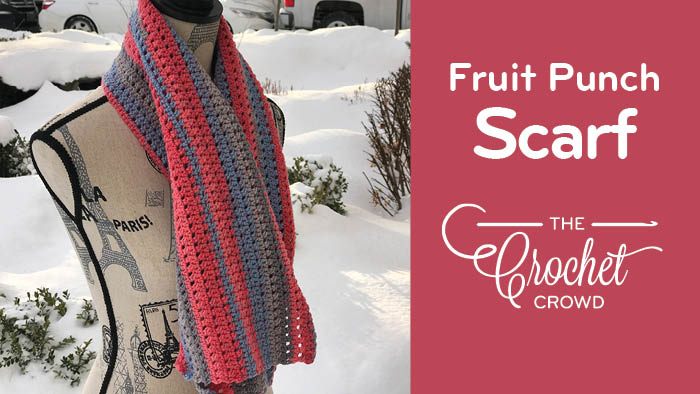 Crochet Fruit Punch Scarf