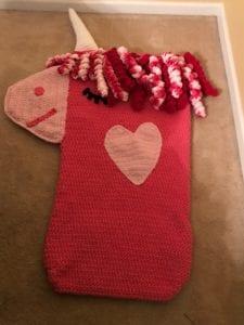Crochet Unicorn Snuggle Sack: Shenelle from SC