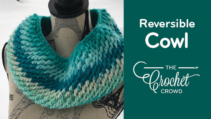 Crochet Reversible Cowl by Diva Dan