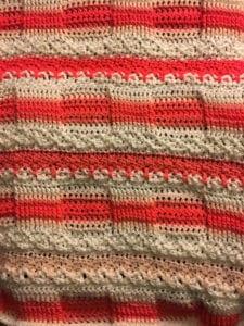 Crochet Ridges & Ruffles Blanket by Donna Bondy