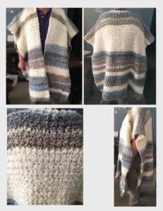 Crochet Ruana Poncho - Nancy from IA
