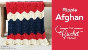 Crochet Summer Ripple Afghan