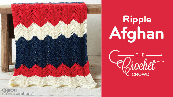 Crochet Summer Ripple Afghan