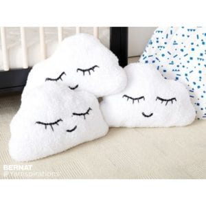 Bernat Head in the Clouds Knit Pillow