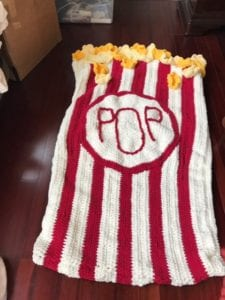 Crochet Popcorn Snuggle Sack from Debby of TX