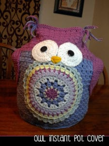 Instant Pot Owl Cover by Aunt Janet Designs