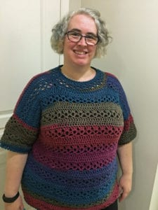 Crochet Plum Pretty Top by Donna Bondy