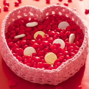 11 Heart Valentine Candy Basket