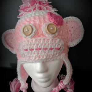 2 Valentine's Sock Monkey Hat
