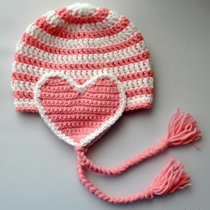 20 Valentine Heart Earflap Hat