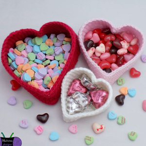 22 Heart Nesting Baskets