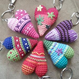 5 Heart Key Chain