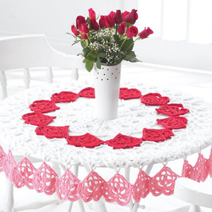 6 Valentine Tablecloth