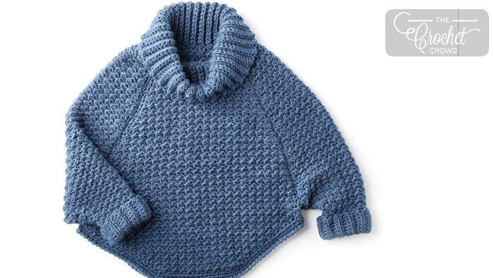 Crochet Kids Curvy Pullover Pattern + Tutorial