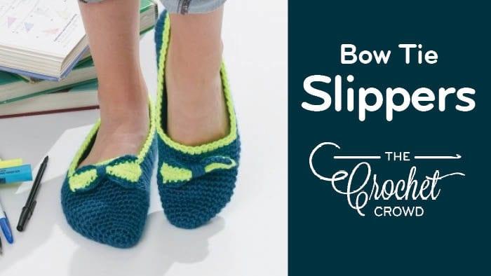 Crochet Women's Bow Tie Slippers