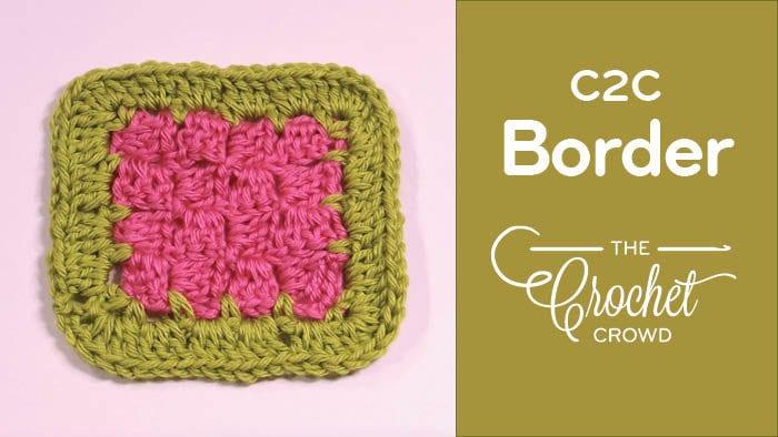 Crochet C2C Border Idea