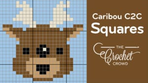 Crochet Caribou C2C Squares