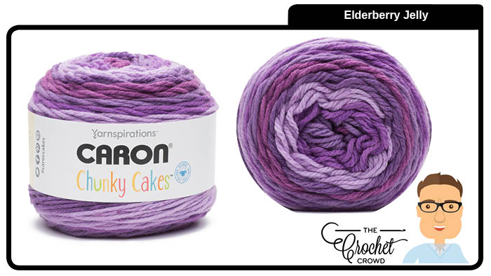 Caron Chunky Cakes Elderberry Jelly