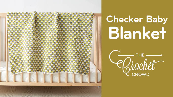 Crochet Baby Checker Blanket Pattern