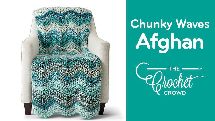 Caron Chunky Cakes Waves Afghan