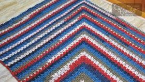 Crochet Mitered Modern Granny