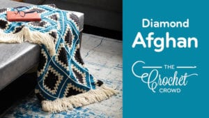 Crochet Diamond Granny Afghan
