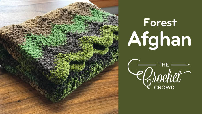 Crochet Through the Forest Afghan Pattern