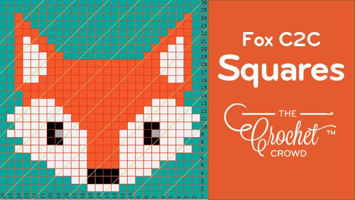 Crochet Fox C2C Squares