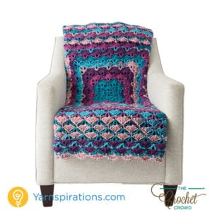 From The Middle Afghan featuring Caron Chunky Cakes