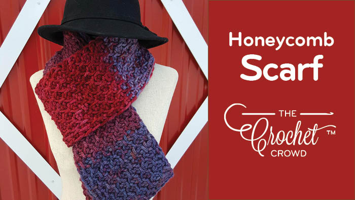 Crochet Honeycomb Tunisian Scarf