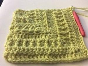 Crochet Mitered Ridges Afghan by Jeanne Steinhilber