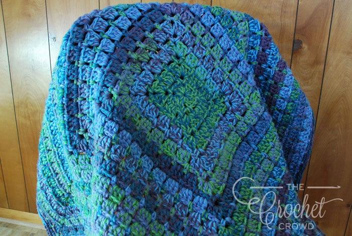 Crochet Marled Modern Granny Afghan by Jeanne Steinhilber