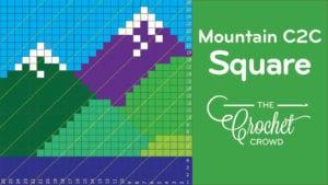 Crochet Mountain C2C Square