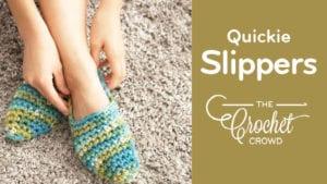 Crochet Women's Quickie Slippers