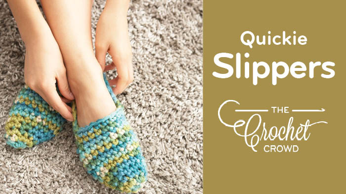 Crochet Women's Quickie Slippers