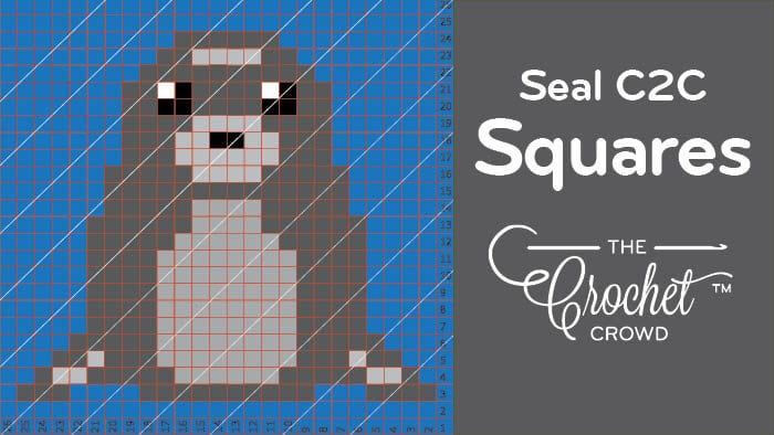 Crochet Seal C2C Squares