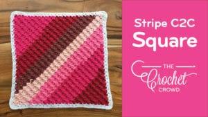 Crochet C2C Striped Square
