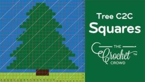 Crochet Tree C2C Squares