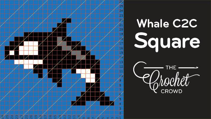 Crochet Whale C2C Square