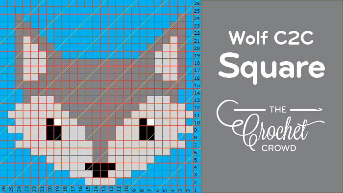 Crochet Wolf Corners To Corner C2c Pictorial Squares For Afghans