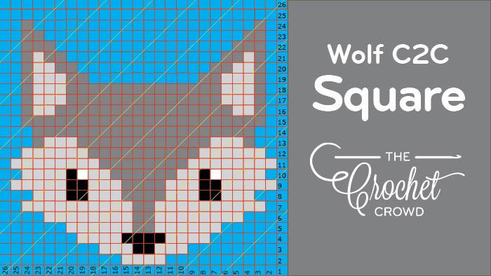 Crochet Wolf C2C Square