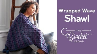Crochet Wrapped in Waves Shawl