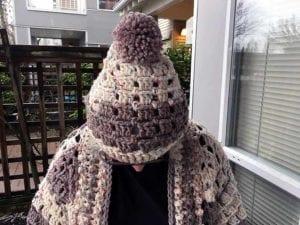 Crochet Modern Granny Hat by Donna Bondy
