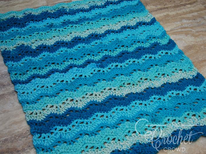 Crochet Gentle Waves Baby Blanket by Jeanne Steinhilber