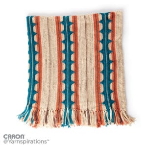 Crochet Southwest Stripe Afghan