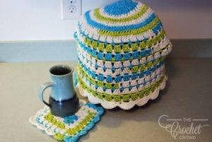 Crochet Modern Granny Kitchen Set by Jeanne Steinhilber