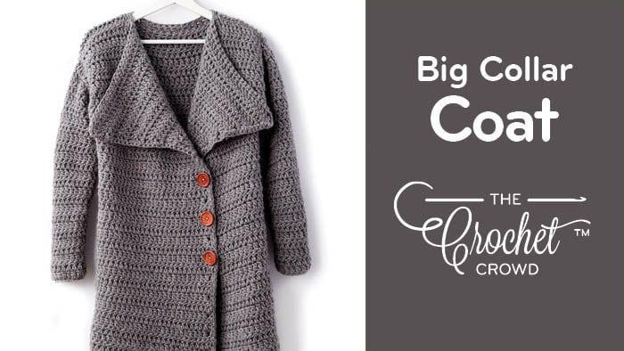 Crochet Big Collar Coat