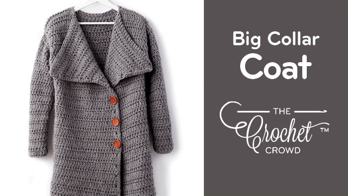 Crochet Big Collar Coat