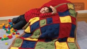 Crochet Building Blocks Throw